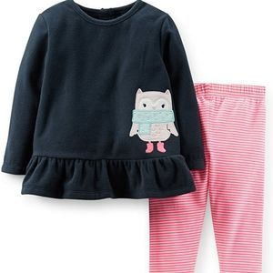 CARTER'S | 2pc Owl Outfit